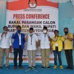 Partai Pengusung Kawal Paslon Rida Daftar di KPU
