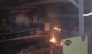 Posko Pemenangan RAPI di Raha III Dibakar OTK,