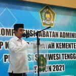 Kepala Kanwil Kemenag Sultra Fesal Musaad