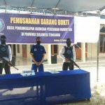 BNNP Sultra Musnahkan 713 Sabu