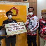 DPD Gerindra Sultra Beri Bantuan Dana Dua Masjid Di Kendari