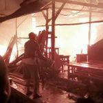 Bangsal Kayu di Labibia Terbakar Kerugian Capai Rp 50 Juta