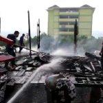 Satu Rumah Warga Puday Terbakar, Pemilik Rumah Menderita Luka Bakar