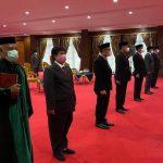 Ali Mazi Lantik 7 Pejabat Baru di Pemprov Sultra