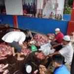 Disdamkar Kendari Bagikan 325 Kantong Daging Kurban