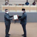 KUA PPAS 2021 Perubahan Kota Kendari Diserahkan ke DPRD