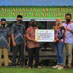 Gerindra Sultra dan ASR Beri Bantuan Pembangunan Mesjid di Kecamatan Soropia