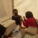 Vaksinas Gratis Tidar dan Gerindra Sultra Disambut Antusias Masyarakat