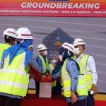 Pembangunan Jalan Kembar ZA Sugianto -H AE Agus Mokodompit Dimulai